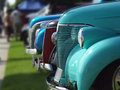 Lineup of vintage cars Stock Photography