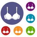 Lingerie icons set Royalty Free Stock Photo