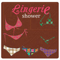 Lingerie a lot of panties and bra with colors and textures Royalty Free Stock Photography