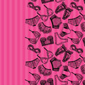 Lingerie panty and bra background.