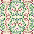 Lingonberry blueberry seamless pattern Royalty Free Stock Photo