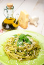 Linguine al Pesto Royalty Free Stock Image