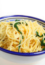Linguine with arugula vertical Stock Images