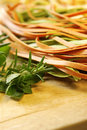 Linguine with Herbs Royalty Free Stock Photography