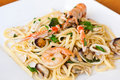 Linguine seafood Royalty Free Stock Photography