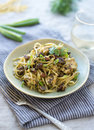 Linguini with Chicken Royalty Free Stock Photo