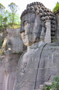 Lingyunshan giant buddha is metres tallstill in lingyun mountain nanchong sichuan china Royalty Free Stock Images