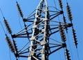 Linha de transmissão elétrica Imagem de Stock