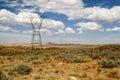 Linhas eléctricas da tensão elevada Foto de Stock