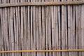 Linia żółta bambus ściana który blaknie i starzeje się czasem à ? ?à ? ? Fotografia Royalty Free
