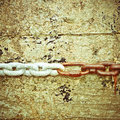 Linked chains Royalty Free Stock Photography