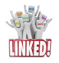 Linked Words Connected Allied United Referrals People Networking Royalty Free Stock Photo