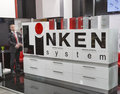 Linken system furniture accessories company booth Royalty Free Stock Photo