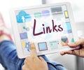 Links Backlinks Hyperlink Linkage Internet Online Concept Royalty Free Stock Photo