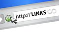 Links browser illustration design over a white background Royalty Free Stock Photography