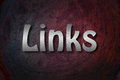 Links concept text backgroud blog Stock Image