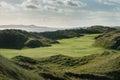 Links Golf Hole With Large San...
