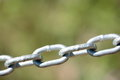 Links in a steel chain Royalty Free Stock Photo
