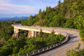 Linn cove viaduct north carolina the is a concrete segmental bridge which snakes around the slopes of grandfather mountain in and Royalty Free Stock Photo