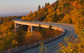 Linn Cove Viaduct at sunrise, Blue Ridge Parkway Stock Photos