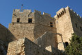 Linods Acropolis on Rhodos Ancient Archeological site, Greece Royalty Free Stock Photos