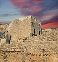 Linods acropolis on rhodos ancient archeological site greece Royalty Free Stock Images