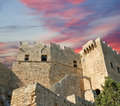 Linods acropolis on rhodos ancient archeological site greece Stock Photography