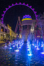 The linq las vegas march a dining and shopping district and high roller at center of strip on march high Stock Image