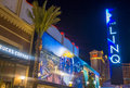 The linq las vegas march sign a dining and shopping district and high roller at center of strip on march Stock Photos