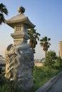 Linterna de piedra japonesa Imágenes de archivo libres de regalías