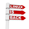Linux is back regaining it s market through popular mobile os and web servers concept Royalty Free Stock Photography