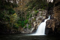 Linville falls plunge basin in the gorge of north caroilna Stock Images