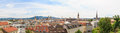 Linz panorama of old city austria view on with churches Royalty Free Stock Images