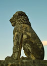 Lion of amfipolis ii stone statue from roman times located near the town asprovalta photographed Royalty Free Stock Photos
