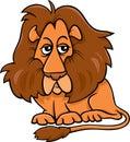 Lion animal cartoon illustration of funny wild cat Royalty Free Stock Image