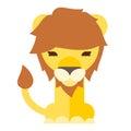 lion cartoon flat style