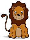 Lion a cartoon illustration of a Royalty Free Stock Photos