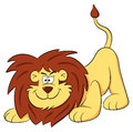 Lion cartoon vector illustration of a on white Stock Image