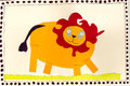 Lion clip art happy jungle Stock Image