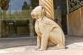 Lion column base horizontal Royalty Free Stock Photo