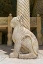 Lion column base Royalty Free Stock Photo