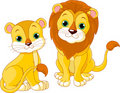 Lion couple Stock Images