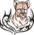 Lion cub tattoo Royalty Free Stock Image