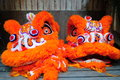 Lion dance chinese symbol head Stock Image