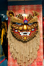 Lion dance head Royalty Free Stock Photo