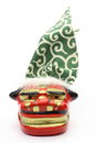 Lion dance pictured miniature of shishimai clothes often performed around the new year in japan Stock Photos
