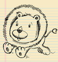 Lion Doodle Sketch Stock Photo
