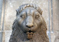 Lion en pierre Photographie stock