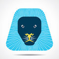 Lion face icon illustration background Royalty Free Stock Images