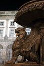 Lion fountain in Porto Royalty Free Stock Photo